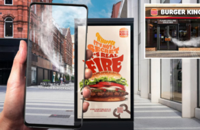 Burger King напоминает о бургерах на гриле с помощью дыма от постеров