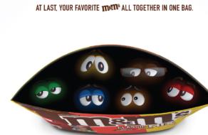 Для M&M's создали печатную рекламу с дополненной реальностью