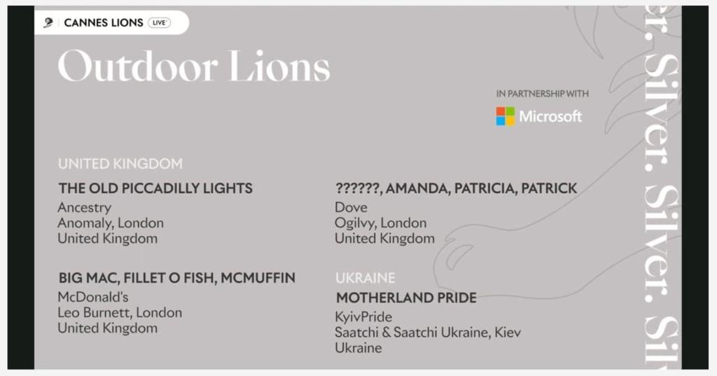 Saatchi & Saatchi Ukraine получило серебряного Каннского льва за проект Motherland Pride