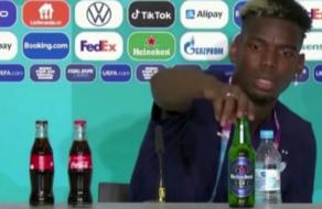 УЕФА запретил футболистам убирать бутылки спонсоров
