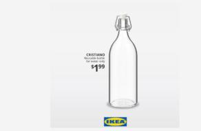 IKEA представила бутылку для воды CRISTIANO вслед за шумихой вокруг Роналду и Сoca-Cola