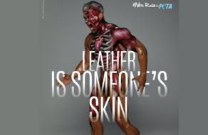 PETA содрала кожу с человека в новой кампании