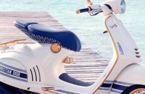Dior и Vespa представили идеальный скутер для модных путешествий