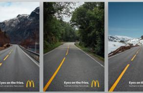 McDonald's призвал водителей не спускать глаз с фри в социальной кампании